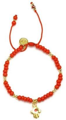 Blee Inara Hamsa Bead String Bracelet - Red