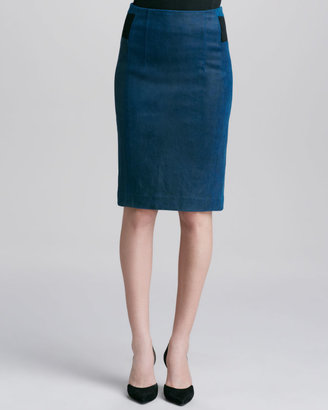 Rebecca Taylor Leather/Ponte Pencil Skirt