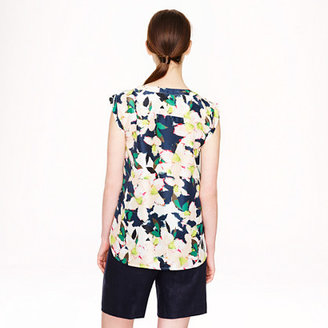 J.Crew Petite sleeveless drapey top in cove floral