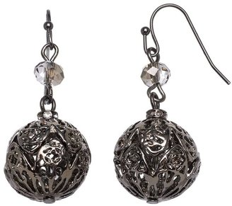 Vera Wang Simply vera bead openwork ball drop earrings