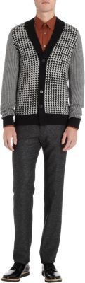 Paul Smith Exploded Houndstooth Cardigan