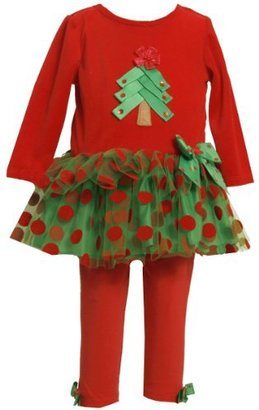 Bonnie Baby girls Newborn Velour Bodice With Tree Applique To Tutu Skirt and Knit Legging