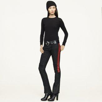Ralph Lauren Black Label Denim Black-Washed Biker Jean
