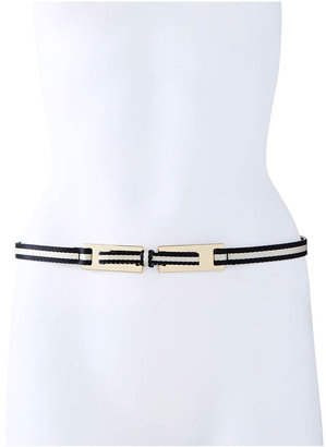 The Limited Striped Bow Skinny Belt