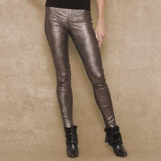 Ralph Lauren Blue Label Metallic Stretch-Leather Pant