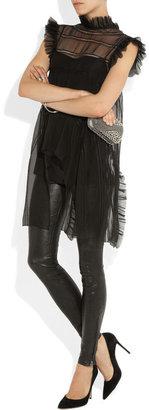 Alberta Ferretti Ruffled silk-chiffon top