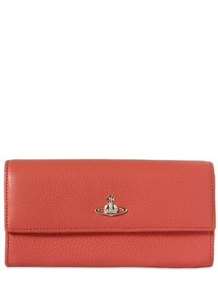 Vivienne Westwood Grained Leather Continental Wallet