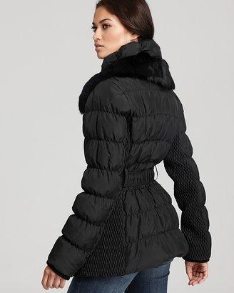 Via Spiga Belted Puffer Coat