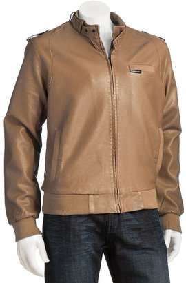 Members only faux-leather bomber jacket - men
