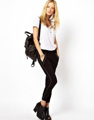 LnA Zip Seam Sweater - Black