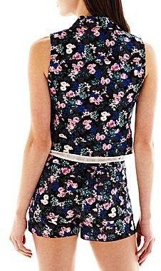 JCPenney I 'Heart' Ronson® Floral Denim Vest