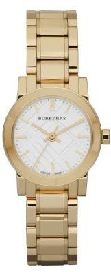 Burberry Women's Small Round Gold Watch