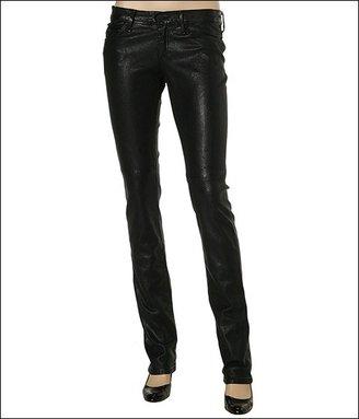 Gold Sign Misfit Leather Jean (Black)