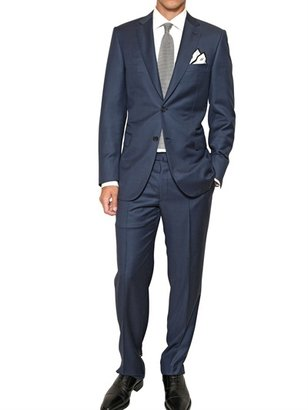 Brioni Dogtooth Check Wool Slim Fit Suit