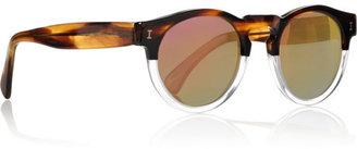 Illesteva Leonard Half/Half mirrored round-frame acetate sunglasses