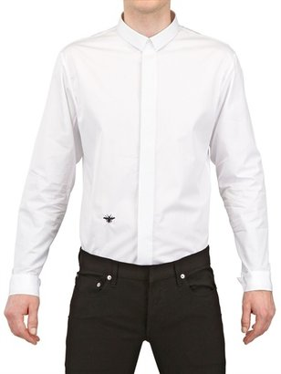 Christian Dior Bee Embroidered Cotton Poplin Shirt