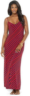 Lauren Ralph Lauren Sleeveless Striped Maxi Dress