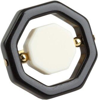 Kate Spade Octagonal Ring (Black/Cream) - Jewelry