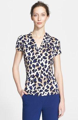 St. John Ombré Leopard Print Jersey Tee
