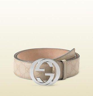 Gucci belt with interlocking G buckle