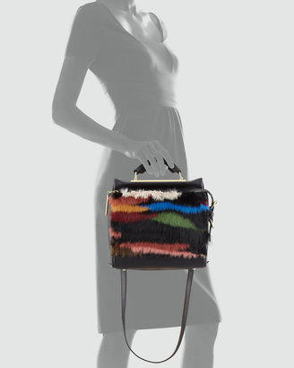 3.1 Phillip Lim Ryder Small Fur Crossbody Satchel, Multicolor