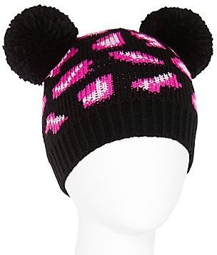 JCPenney Animal Print Ear Beanie Hat