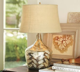 Pottery Barn Etched Fern Mercury Glass Table Lamp
