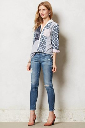 Anthropologie Patchworked Henley
