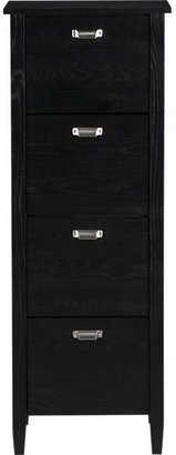 Crate & Barrel Preston Four-Drawer File Cabinet
