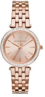 Michael Kors Mini Darci Rose Golden Stainless Steel Glitz Watch $250 thestylecure.com