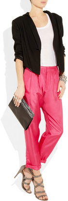 Band Of Outsiders Cropped silk-satin tapered pants