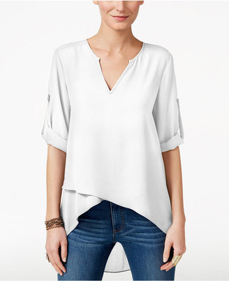 Karen Kane Asymmetrical Tiered-Hem Top $89 thestylecure.com