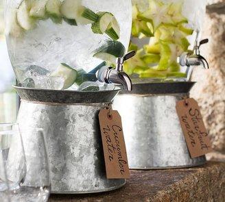 Pottery Barn Galvanized Metal Drink Dispenser Stand