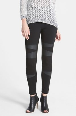 Women's Two By Vince Camuto Faux Leather Trim Moto Leggings $79 thestylecure.com