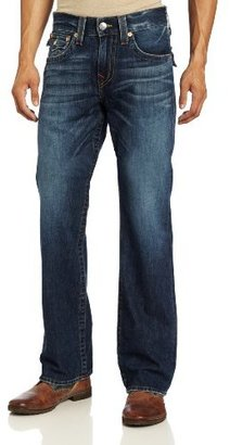 True Religion Men's Billy Classic Boot Fit Old Multi Single Needle in Whiskey Blues