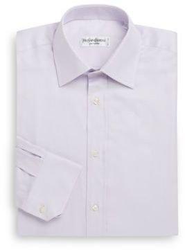 Saint Laurent Solid Oxford Dress Shirt & Gift Box