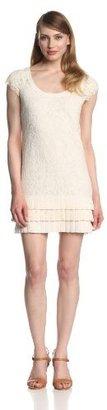 Jessica Simpson Women's Cap-Sleeve Tier-Ruffle Hem Dress