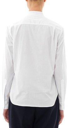 E. Tautz Contrast bib cotton shirt