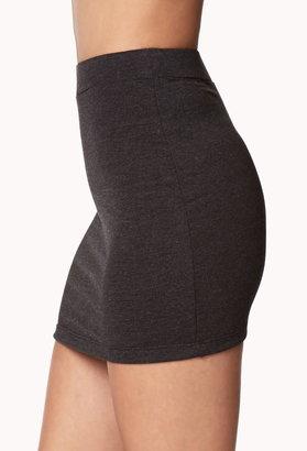 Forever 21 Basic Heathered Mini Skirt