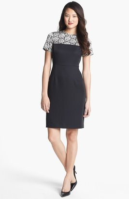 Vince Camuto Lace Print Crepe Dress