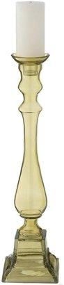 Lazy Susan Peridot Glass Knight Pillar Candle Holder, Large