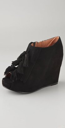 Jeffrey Campbell Mary Lou Suede Kiltie Booties