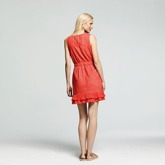 Peter Som for designation solid eyelet dress - women's