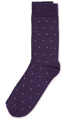 Topman Purple Dot Pattern Socks