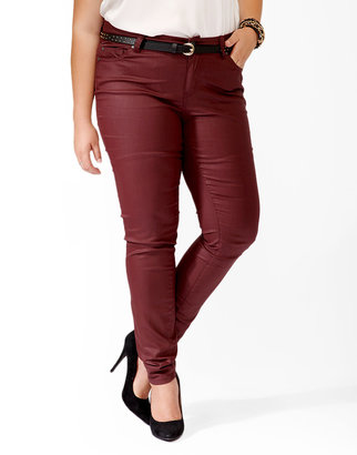 Forever 21 FOREVER 21+ Coated Colored Skinnies