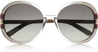 Marc Jacobs Oversized round-frame acetate sunglasses
