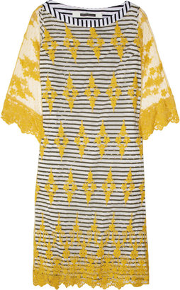 Easton Pearson Striped cotton and lace dress