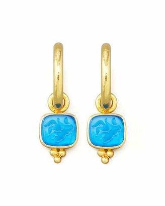 Elizabeth Locke Peacock Pegasus, Goddess & Moon Intaglio Earring Pendants $1,550 thestylecure.com