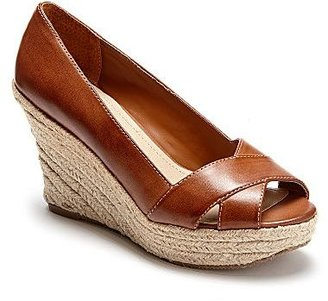 JCPenney St. John's Bay® Coco Patent Wedge Sandals