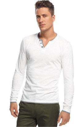 INC International Concepts Shirt, Long Sleeve Busy Guy Shirt